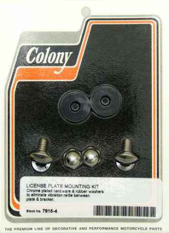 Colony Colony Chrome License Plate Mounting Kit  - 36-024
