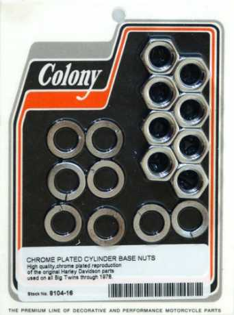 Colony Colony Cylinder base nuts chrome  - 36-075