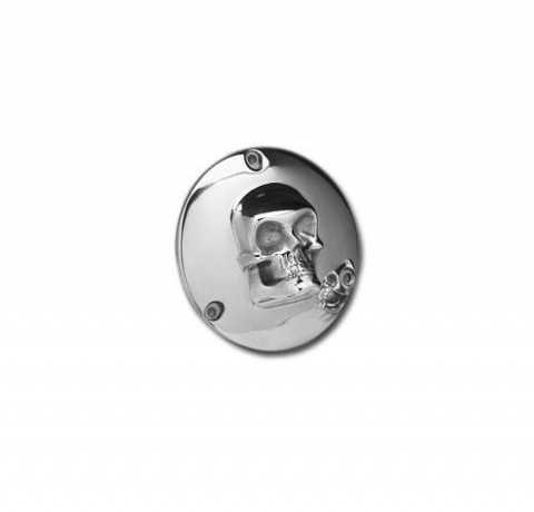 Custom Chrome Derby Cover Skull  - 37-860