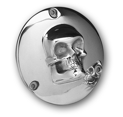 Custom Chrome Kupplungsdeckel Skull poliert  - 37-726