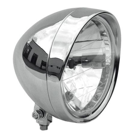 "Headlight 6.5"" with Visor chrome"
