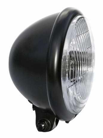 """Thunderbike Headlight Bates Style 5.75"""" black & ribbed - 42-99-525"""