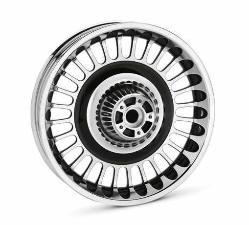 "Harley-Davidson Knuckles 28 Spoke Custom Wheel 16"" Rear Contrast Chrome  - 42196-10"