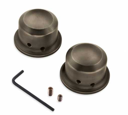 Harley-Davidson Brass Front Axle Nut Covers  - 43000046