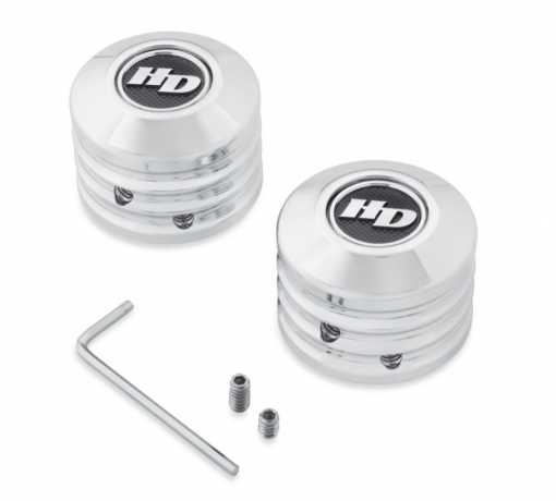 Harley-Davidson Defiance Front Axle Nut Covers, chrome  - 43000062