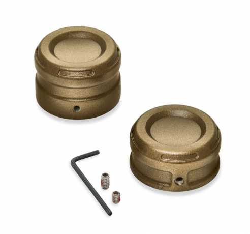 Harley-Davidson Dominion Rear Axle Nut Covers - Bronze  - 43000128