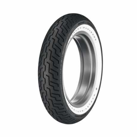 Dunlop D402F Front Tire MT90B16 Wide Whitewall