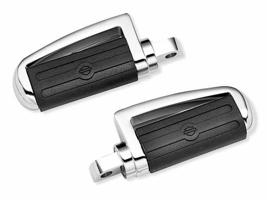 Harley-Davidson Slotted Chrome and Rubber Custom Footpegs  - 43280-01
