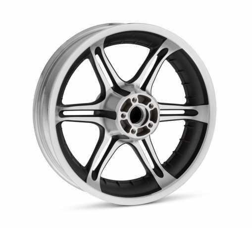 "Harley-Davidson Slotted 6-Spoke Wheel 17"" Rear Textured Black  - 43942-07"