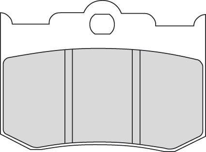 "Ferodo Ferodo Platinum ""P"" Brake Pad FDB2040P  - 45-44007"