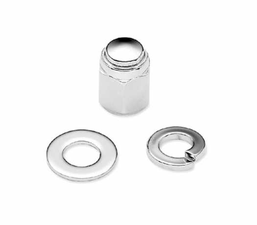 Harley-Davidson Fork Axle Retainer Nut Kit - Chrome  - 45802-03