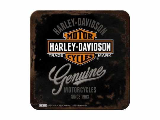 H-D Motorclothes Harley-Davidson Metalluntersetzer Genuine  - 46101