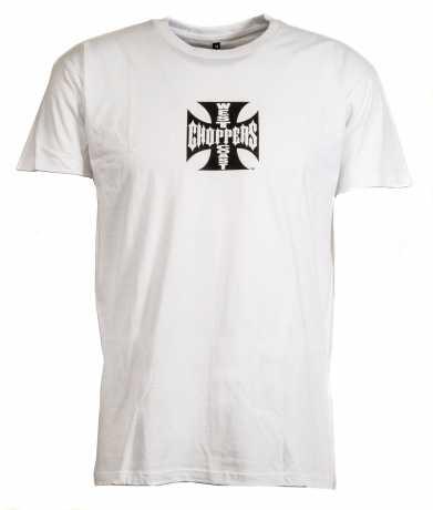 West Coast Choppers West Coast Choppers Cross T-Shirt, white  - 48-2000V