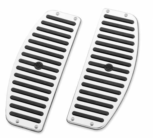Harley-Davidson Chrome & Rubber Rider Footboard Inserts, traditional shape  - 50176-95