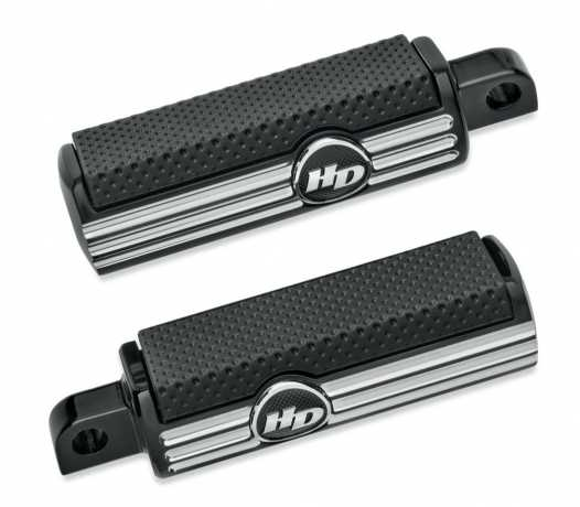 Harley-Davidson Defiance Footpegs, black cut  - 50500540