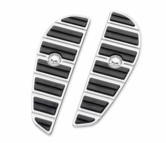 Wille G. Skull Rider Footboard Inserts - Chrome