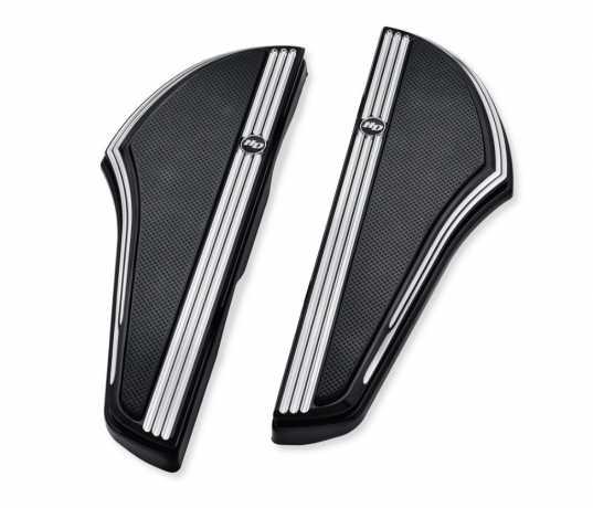 Harley-Davidson Defiance Rider Footboard Kit - Black Anodized Machine Cut  - 50500798
