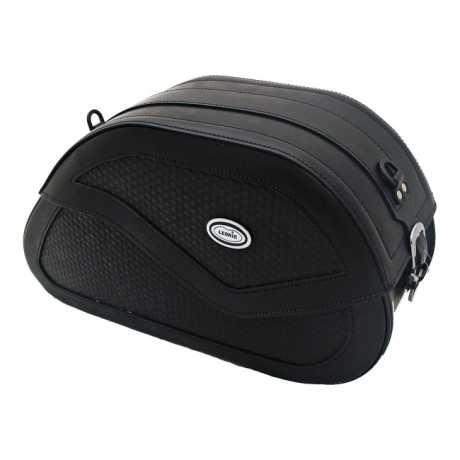 Ledrie Ledrie Reinforced Rigid Leder Satteltaschen Basket Weave  - 515813
