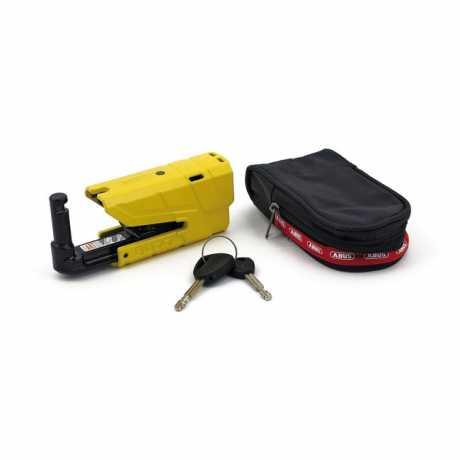 Abus Abus 8077 Granit Detecto X-Plus Yellow Disk Brake Lock  - 524080