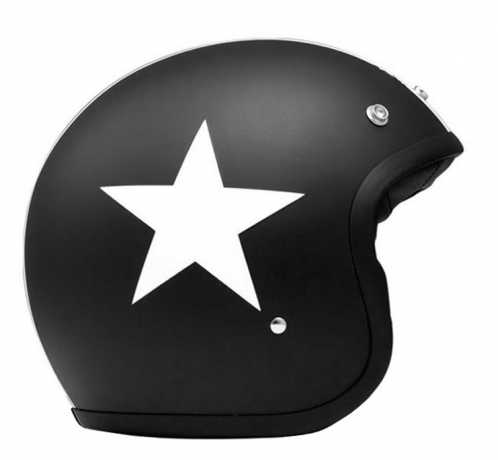DMD DMD Star Vintage Helmet Matte Black with White Star, ECE  - 53-9030V