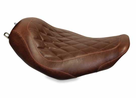 """Mustang Mustang Wide Tripper Solo Seat 14"""" Diamond, distressed brown  - 537026"""