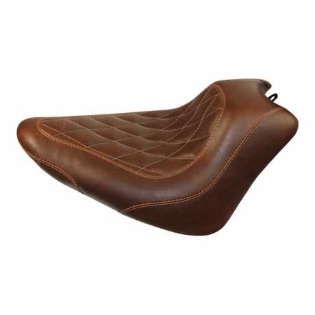 """Mustang Mustang Wide Tripper Solo Seat 13"""" Diamond, distressed brown  - 537433"""