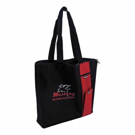Mustang Mustang Zip Tote Bag, black & red  - 537445