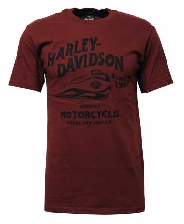 H-D Motorclothes Harley-Davidson T-Shirt Dual Gas Tank rot  - 5504-HK44