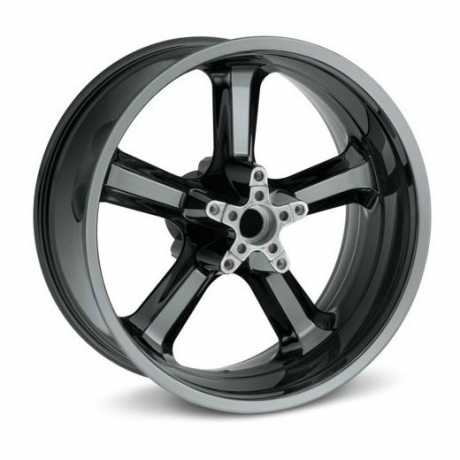 "Harley-Davidson 5-Spoke Wheel - Black Ice 18"" Rear  - 55082-11"