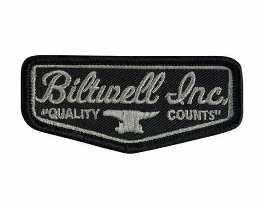 Biltwell Biltwell Shield Patch black & grey  - 561950