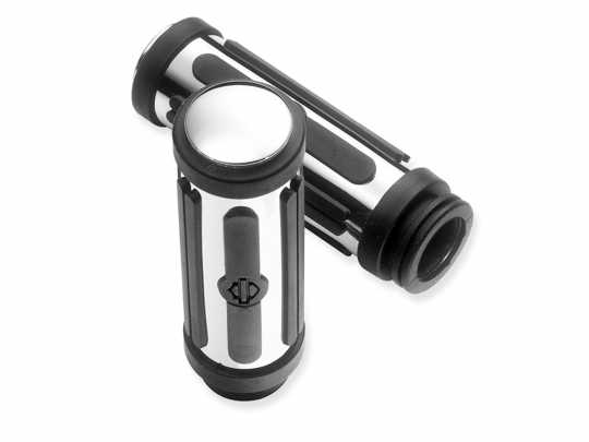 Harley-Davidson Hand Grips Chrome & Rubber small  - 56246-08