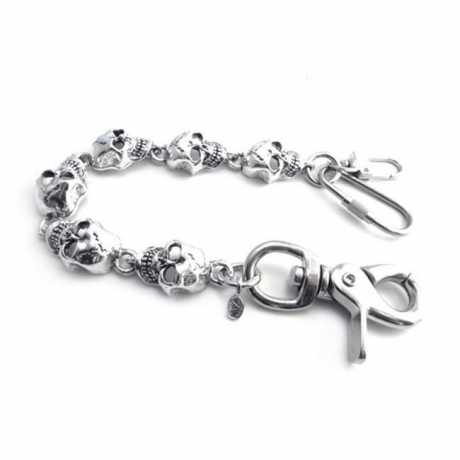 "Amigaz Amigaz Monster Skull Key Leash 8"" chrome  - 563387"