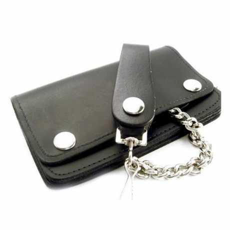 Amigaz Amigaz Leder Geldbörse schwarz mit Kette  - 563414