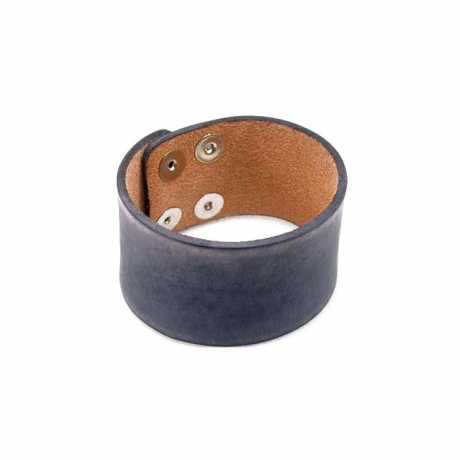 Amigaz Amigaz Wide Distressed Leder Strap Armband grau  - 563439