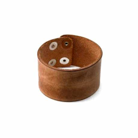Amigaz Amigaz Wide Distressed Leder Strap Armband tan/hellbraun  - 563440