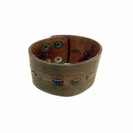 Amigaz Amigaz Wide Threaded Leder Manschetten-Armband braun  - 563446