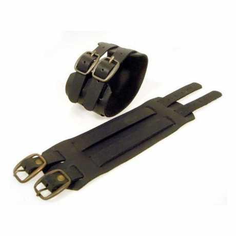 Amigaz Amigaz Leder Manschetten-Armband mit Schnallen schwarz  - 563447