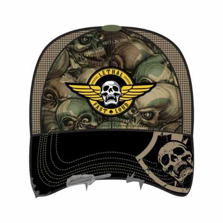 Lethal Threat Lethal Threat Trucker Hat Army Skull Camo  - 563959