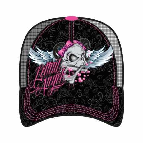 Lethal Threat Lethal Threat Girl Skull Trucker Cap  - 563992