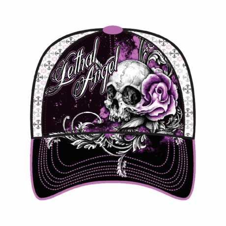 Lethal Threat Lethal Threat Floral Skull Rose Cap  - 563993