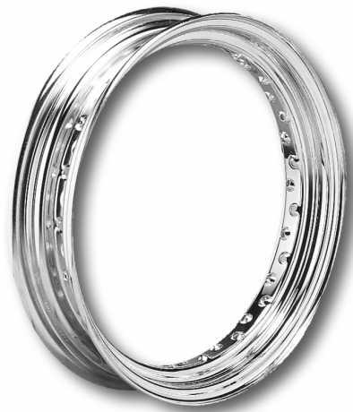 "Custom Chrome Premium Chrome Wheel Rim 3x16"" Metal Center Valve  - 56-410"