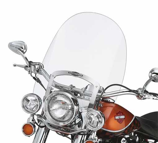 "Harley-Davidson King-Size Nostalgic Detachable Windshield 21"" clear  - 57140-05"