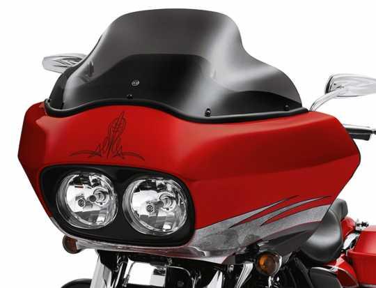 """Harley-Davidson Wind Splitter Windschutzscheibe 12"""" dunkel getönt  - 57166-10A"""
