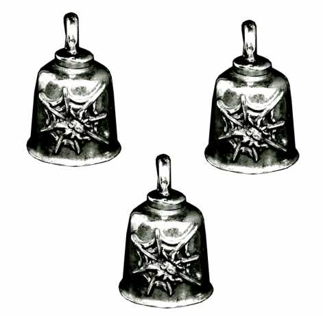 Motorcycle Storehouse Spider In Web Gremlin Bell Set  - 571799