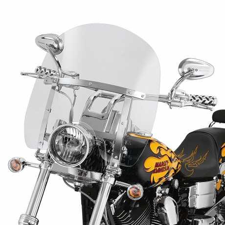 "Harley-Davidson Abnehmbare Kompakt-Windschutzscheibe 16"" leicht getönt & polierte Streben  - 57199-05"