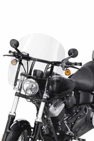 """Harley-Davidson Abnehmbare Kompakt-Windschutzscheibe 16"""" leicht getönt & schwarze Streben  - 57400022"""