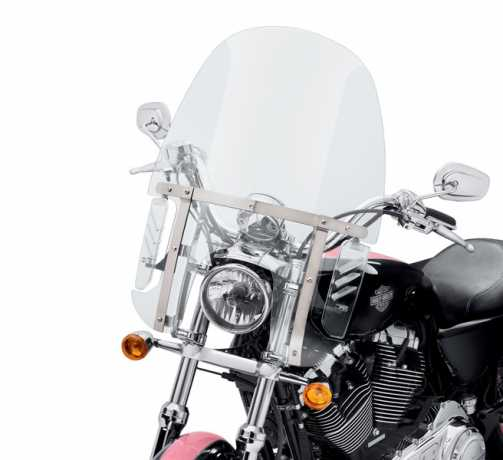 "Harley-Davidson ventilator Compact Detachable Windshield 19"" clear  - 57400025"