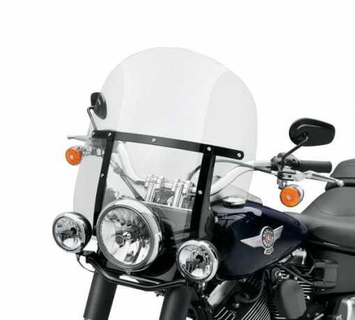 """Harley-Davidson Abnehmbare King-Size Windschutzscheibe 18"""" leicht getönt & schwarze Streben  - 57400111"""