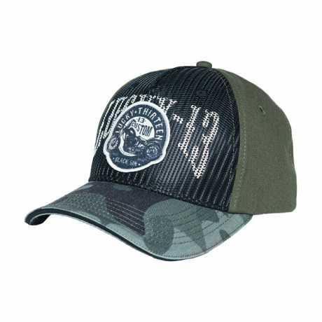 Lucky 13 Lucky 13 Black Sin Trucker Cap Camo Military grün  - 574228