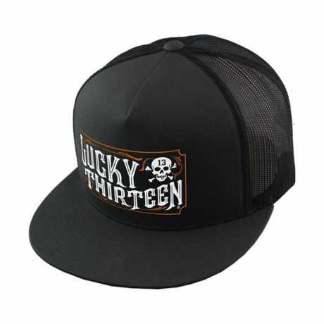 Lucky 13 Lucky 13 The Saloon Snapback Trucker Cap Poplin Mesh  - 574256